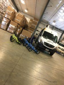 Sprinter Van with Strider BiIkes